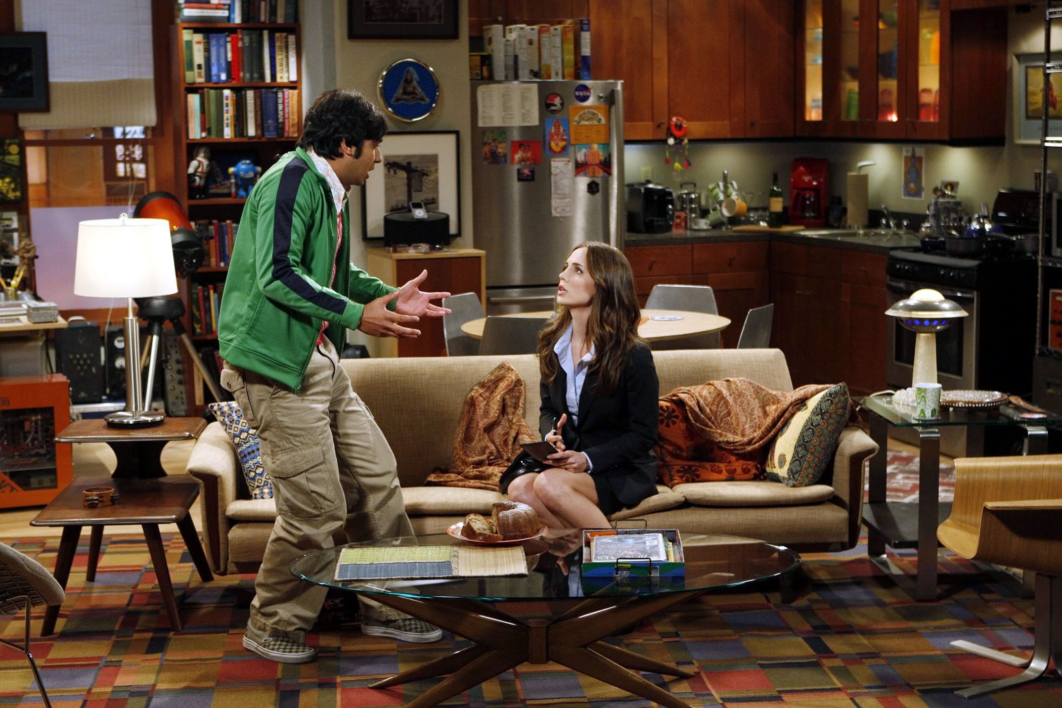 """""""The Apology Insufficiency"""" -- Sheldon's answers during an FBI interview put Wolowitz's security clearance in jeopardy, on THE BIG BANG THEORY, Thursday, Nov. 4 (8:00-8:31 PM, ET/PT) on the CBS Television Network.  Eliza Dushku pictured here with Kunal Nayyar, guest stars as the agent interviewing Wolowitz's friends. Photo: Monty Brinton/CBS ©2010 CBS Broadcasting Inc. All Rights Reserved"""